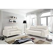 Fernsehsessel Frisco - Chromfarben/Weiß, MODERN, Textil/Metall (112/92/96cm)