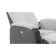 Fernsehsessel SF08 Maxi - Schwarz/Grau, MODERN, Textil (76/113/90cm)