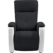 Fernsehsessel SF08 Maxi - Schwarz/Weiß, MODERN, Textil (76/113/90cm)