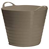 Flexkorb 20 Liter - Taupe, KONVENTIONELL, Kunststoff (20l) - PLAST 1