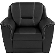 Fotelja Fotelja - bež/crna, Konvencionalno, tekstil (104/98/93cm)