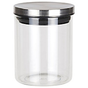 Frischhaltedose Catleen, Gr. S - Klar/Edelstahlfarben, KONVENTIONELL, Glas/Metall (10,2/13cm) - LUCA BESSONI