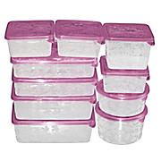 Frissentartó Doboz Sonja - viola/pink, konvencionális, műanyag (40/25/15cm) - PLAST 1