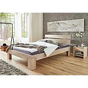 Futonbett Yves 140x200 White Wash - Weiß, KONVENTIONELL, Holz (144,5/84,5/210cm)