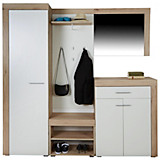 Garderobe Latino - Weiß/Grau, MODERN, Holzwerkstoff (200/200/35,3cm)
