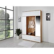 Garderobe Michelle - Eichefarben/Weiß, KONVENTIONELL, Holzwerkstoff (150/230/35cm)