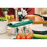 Gemüseschneiderset Nicer Twist - Dunkelgrün/Transparent, KONVENTIONELL, Kunststoff/Metall (28/13,5/24,3cm) - MEDIASHOP