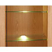 Glasbodenbeleuchtungs-Set Universal, 2-fach - Alufarben, MODERN, Kunststoff/Metall