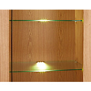 Glasbodenbeleuchtungs-Set Universal, 3-fach - Alufarben, MODERN, Kunststoff/Metall