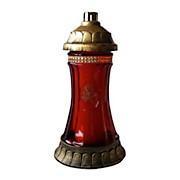 Grablicht Ambrosius Glas Königslicht - Rot/Goldfarben, MODERN, Glas/Kunststoff (12,7/25/12,7cm)