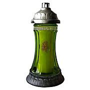 Grablicht Ambrosius Glas Königslicht - Silberfarben/Grün, MODERN, Glas/Kunststoff (12,7/25/12,7cm)