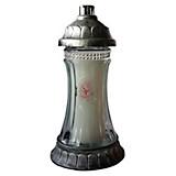 Grablicht Ambrosius Glas Königslicht - Transparent/Silberfarben, MODERN, Glas/Kunststoff (12,7/25/12,7cm)