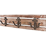 Hakenleiste Sailor 3 - Braun, MODERN, Holz/Metall (50/14/7cm)