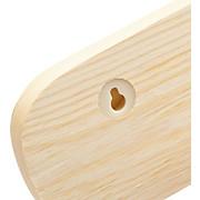 Hakenleiste Schnapp 3 - Kieferfarben, KONVENTIONELL, Holz (25/9cm) - CARRYHOME