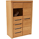 Highboard Pure 22 - Eichefarben, KONVENTIONELL, Holz (95,6/135,5/38cm)