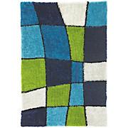 Hochflorteppich Fancy - Blau/Grün, KONVENTIONELL, Textil (120/170cm) - LUCA BESSONI