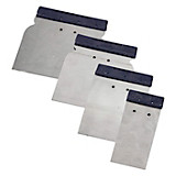 Japanspachtel 4-teilig - Silberfarben, KONVENTIONELL, Metall (5.8.10.12cm) - GEBOL
