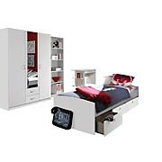 Jugendzimmer Point Weiß - Weiß, MODERN, Holzwerkstoff