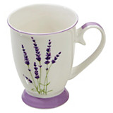 Kaffeebecher Lavender - Multicolor, ROMANTIK / LANDHAUS, Keramik (8,5/10,5cm) - JAMES WOOD