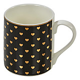 Kaffeebecher Lilly - Goldfarben/Schwarz, Keramik (7,6/8,8cm) - JAMES WOOD