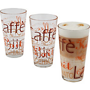 Kaffeeglas Harald - Klar/Braun, KONVENTIONELL, Glas (7,9/14,3cm)