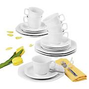Kaffeeservice Andrea Weiß Uni 7 - Weiß, KONVENTIONELL, Keramik (43/24/18,1cm) - SELTMANN WEIDEN