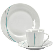 Kaffeeservice Kitty - Blau/Weiß, KONVENTIONELL, Keramik - OMBRA