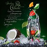 Keilrahmenbild Cocktails - Multicolor/Schwarz, MODERN, Holzwerkstoff (50/50/2cm)