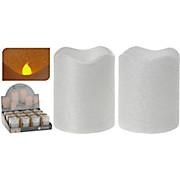 Kerze mit Led Weiß - MODERN (9cm)