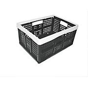 Klappbox 35 Liter - Schwarz/Weiß, KONVENTIONELL, Kunststoff (47/34,5/23,5cm) - PLAST 1