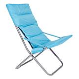 Klappstuhl Lisa - Blau, KONVENTIONELL, Kunststoff/Textil (77/95/60cm) - OMBRA
