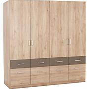 KLEIDERSCHRANK AALEN-EXTRA - Eichefarben/Grau, KONVENTIONELL, Holzwerkstoff (181/197/54cm)
