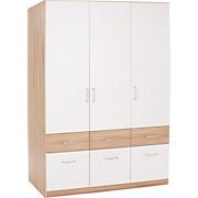 Kleiderschrank Aalen-extra - Weiß, KONVENTIONELL, Holzwerkstoff (136/197/54cm)