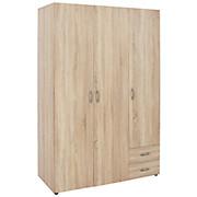 Kleiderschrank Base 3 - Eichefarben, KONVENTIONELL, Holzwerkstoff (120/177/52cm)