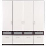 Kleiderschrank Nagold-extra - Weiß/Grau, KONVENTIONELL, Glas/Holzwerkstoff (181/197/54cm)