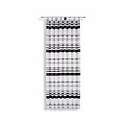Kombivorhang Felice - Schwarz, KONVENTIONELL, Textil (145/245cm) - LUCA BESSONI