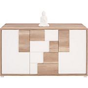 Kommode Daniel - Eichefarben/Weiß, Holzwerkstoff (150/82/45cm)