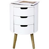 Kommode Fjord inkl. 3 Schubladen - Naturfarben/Weiß, MODERN, Holzwerkstoff (36/53cm)