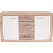 Kommode Malta - Eichefarben/Weiß, MODERN, Holzwerkstoff (137,5/86/39,9cm)