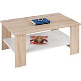 Konferenční Stolek Paolo - bílá/barvy dubu, Konvenční, dřevo/dřevěný materiál (90/41/55cm)
