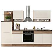 Konyhablokk Welcome 1 - tölgy színű/fehér, modern, faanyagok (280/204/60cm)