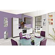 Küchenblock Plan, ohne Gsp. - Weiß/Grau, LIFESTYLE, Holzwerkstoff (280cm)