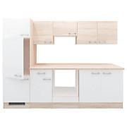 Küchenblock Samoa - Weiß/Sonoma Eiche, KONVENTIONELL, Holzwerkstoff (270cm)