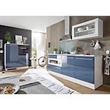Küchenblock Welcome Jazz - Blau/Weiß, MODERN, Holzwerkstoff (200+120cm)