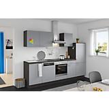 Küchenblock Win - Anthrazit/Grau, MODERN, Holzwerkstoff (280cm) - EXPRESS