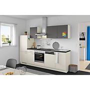 Küchenblock Win/plan - Anthrazit/Magnolie, MODERN, Holzwerkstoff (280cm) - EXPRESS
