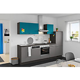 Küchenblock Win/plan - Türkis/Anthrazit, MODERN, Holzwerkstoff (280cm) - EXPRESS