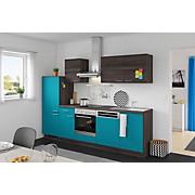 Küchenblock Win/plan - Türkis/Eichefarben, MODERN, Holzwerkstoff (280cm) - EXPRESS