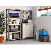 Kunststoffregal Plus 80/5 80/187/40 - Anthrazit, KONVENTIONELL, Kunststoff (80/187/40cm)
