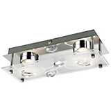 LED-Außenleuchte Alexa - Silberfarben, MODERN, Glas/Metall (13/28/11cm)